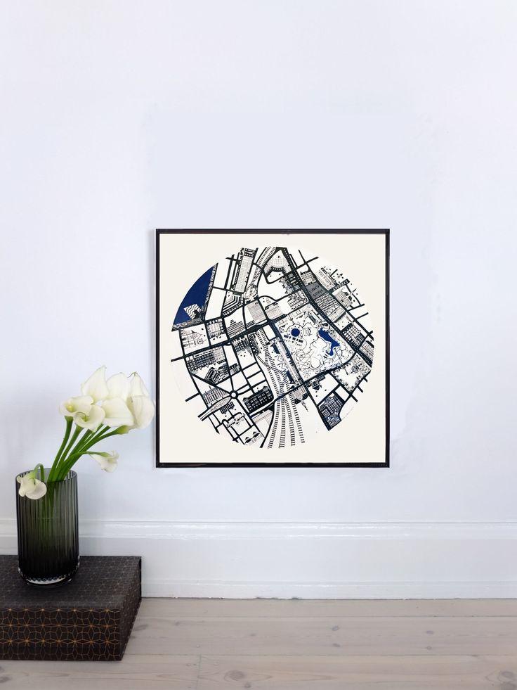 VESTERPORT MAP - 2012 50x50cm Ink & Acrylic
