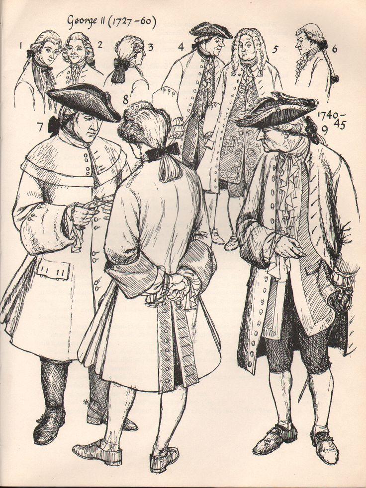 1700's Men's Fashion.