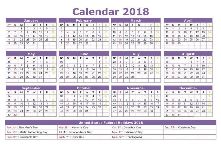 Calendar 2018 Template Word 2018 Calendars Pinterest Calendar