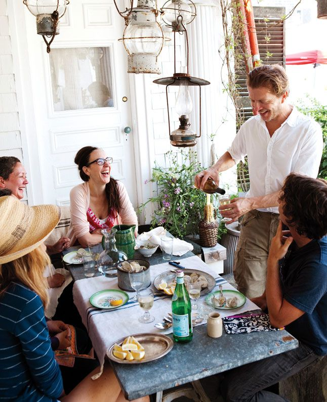 john-derian-lunch-party-646.jpg: Capes Cod Home, Absolutely Beautiful, Outdoor Dinners Parties, Johnderian, Back Porches, John Derian, Hanging Lanterns, Outdoor Spaces, Beautiful Things