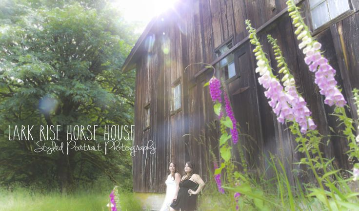 Women, Editorial, Styled Shoot, Vancouver Photographer, Fraser Valley Photographer, Photography, Lark Rise Horse House, Field, Farm, Mother Daughter Shoot, Foxgloves