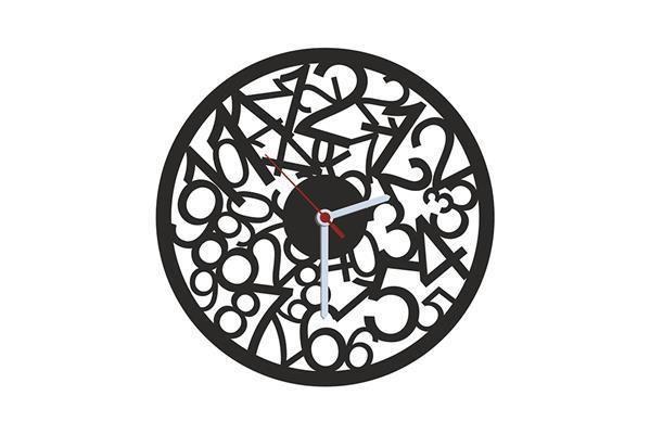 Numbers Siyah Kadife Duvar Saati 33 cm | cazip geldi
