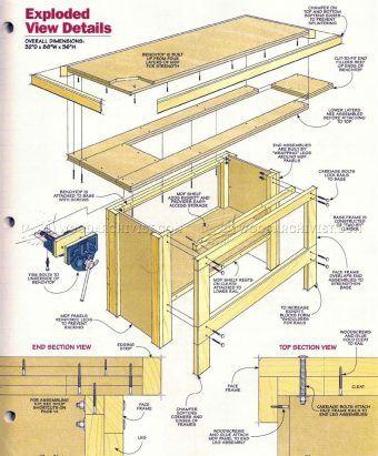 #2160 Heavy Duty Workbench Plans - Workshop Solutions