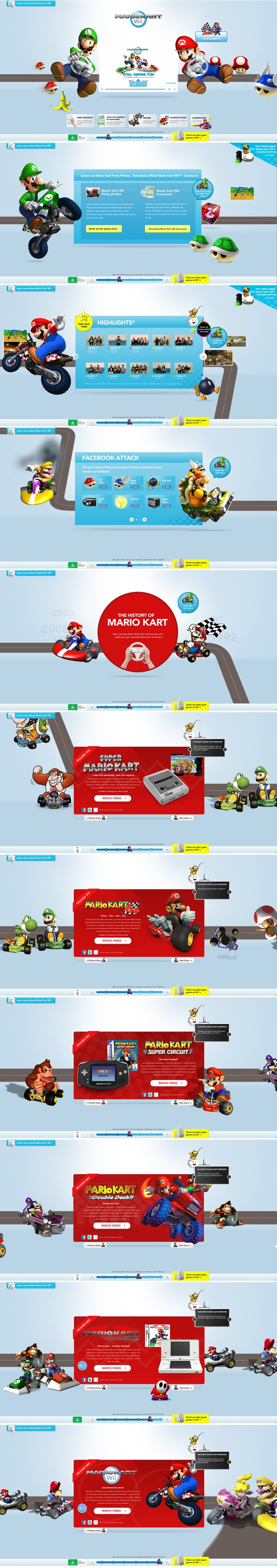 Mario Kart Wii by Nintendo #web design scrolling experience