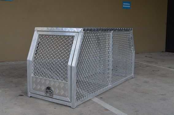 Aluminium Utes tool boxes with a cross-deck MRT25D - DOG BOX size is (1780 x 700 x 850mm). with better features - Heavy Duty Aluminium, Separating Door, Strong key-lockable T-Locks.Please call our office on 1300 650 090 in regards to freight for this box.