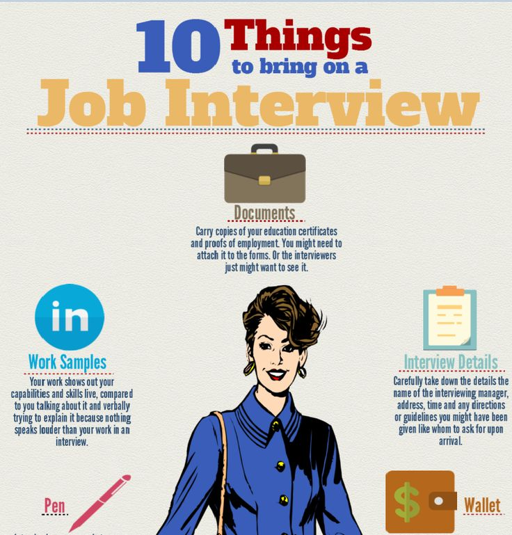 top 10 things to bring to a job interview httptheundercoverrecruiter - What To Bring To A Job Interview