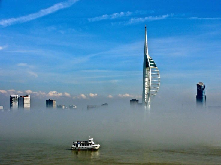 The Sahara fog in Portsmouth today at Gunwharf