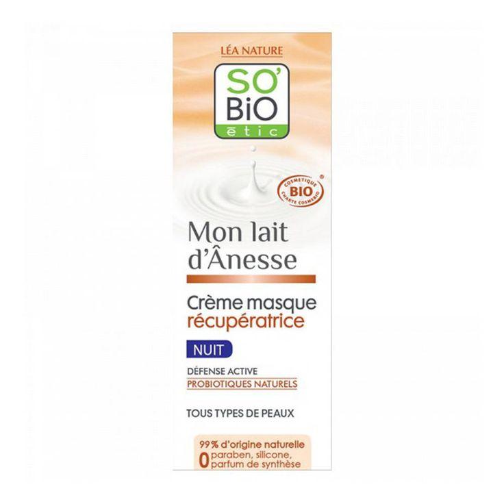 Crème masque récupératrice Mon Lait d'Ânesse, So Bio Etic, 15€, 50ml