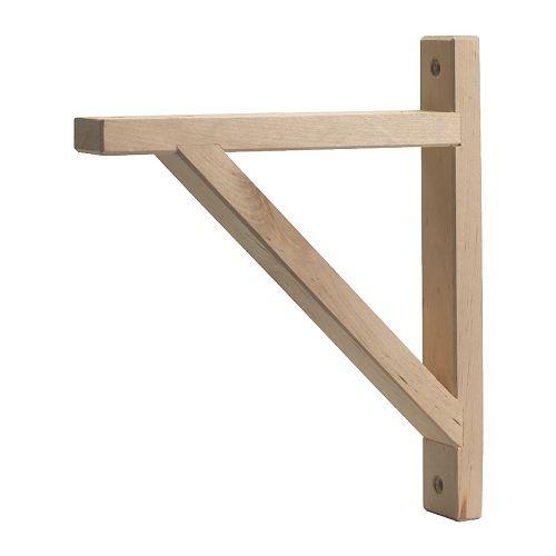 Best 25 wooden shelf brackets ideas on pinterest for Metal bookends ikea