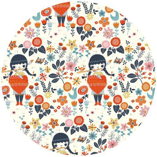 Miriam Bos for Birch Organic Fabrics, Wildland, Windsong