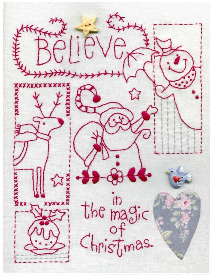 836 Best Red Work 3 Images On Pinterest Christmas Crafts