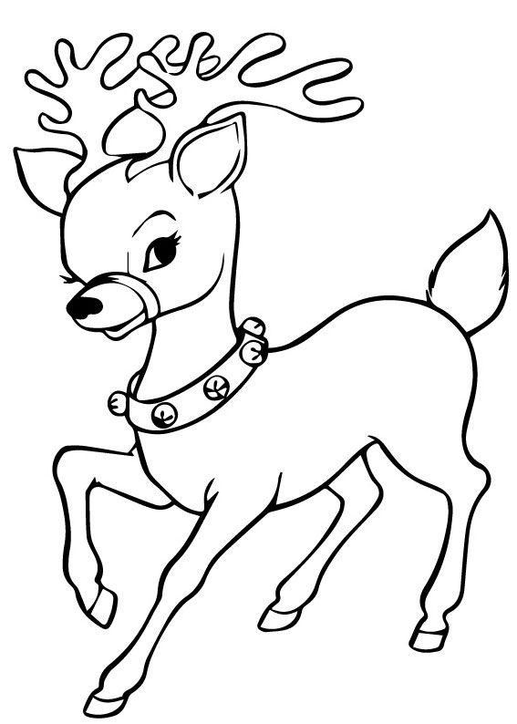 Immagini Di Renne Di Babbo Natale.42 Disegni Di Renne Di Babbo Natale Da Colorare