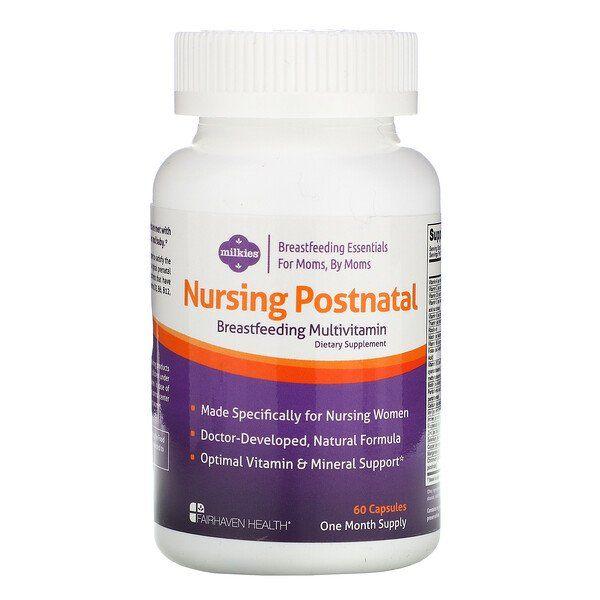 Fairhaven Health Milkies Nursing Postnatal Breastfeeding Multivitamin 60 Capsules Breastfeeding Postnatal Multivitamin