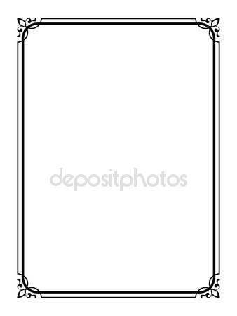 Díszítő keret Stock vektorok, Díszítő keret Jogdíjmentes illusztrációk | Depositphotos®