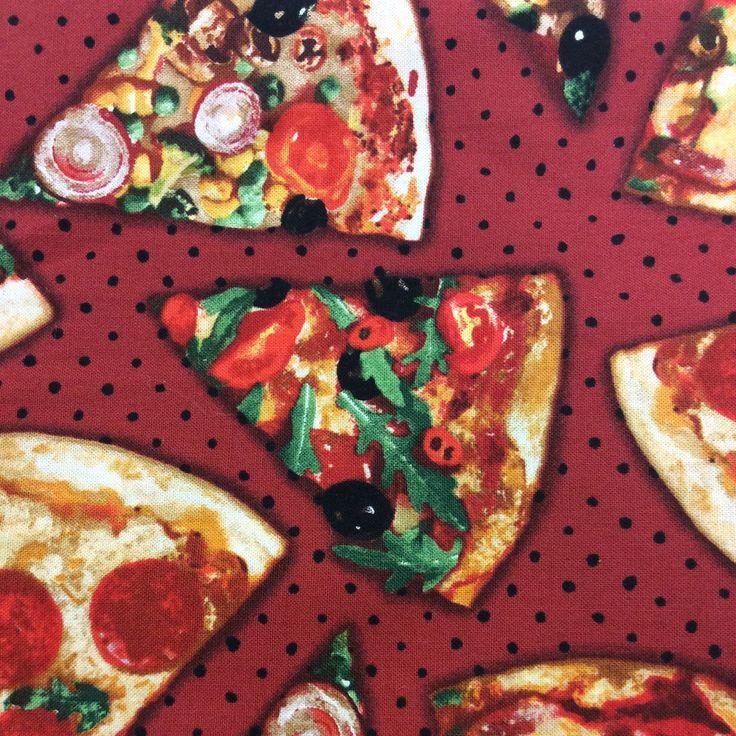 """Appétissant n'est-ce pas? Imaginez ce motif sur un sac lunch et son napperon assorti! Jaloux garantis! Parfait pour les amateurs de pizza ou les personnes au régime qui aiment se """"rincer l'œil"""""""