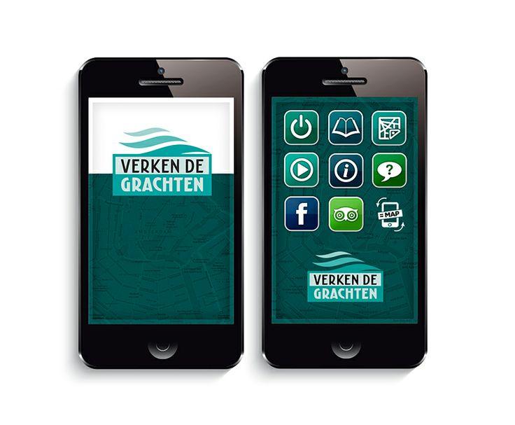'Verken de Grachten' #Amsterdam Inzending #webappcontest #webapptool #LikeableDesign #appdesign @Webapptool