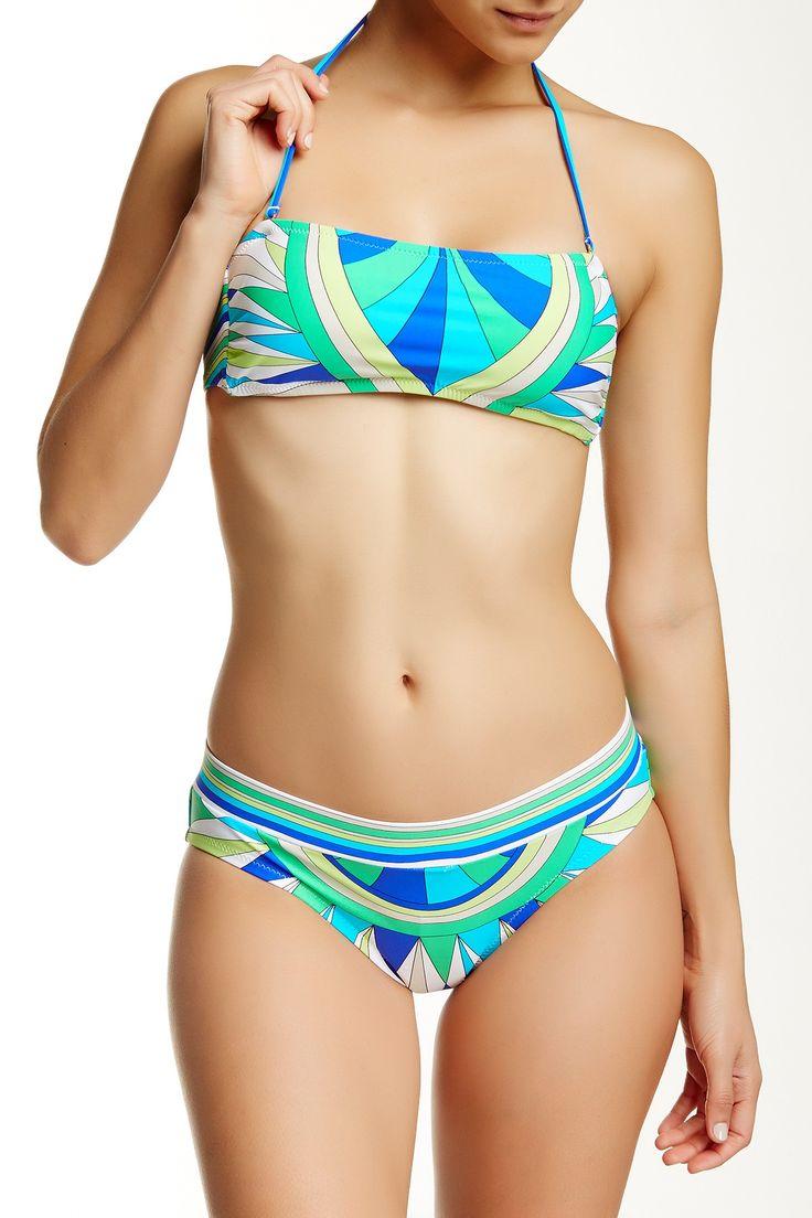 Fiji Feathers Bandeau Bikini Top