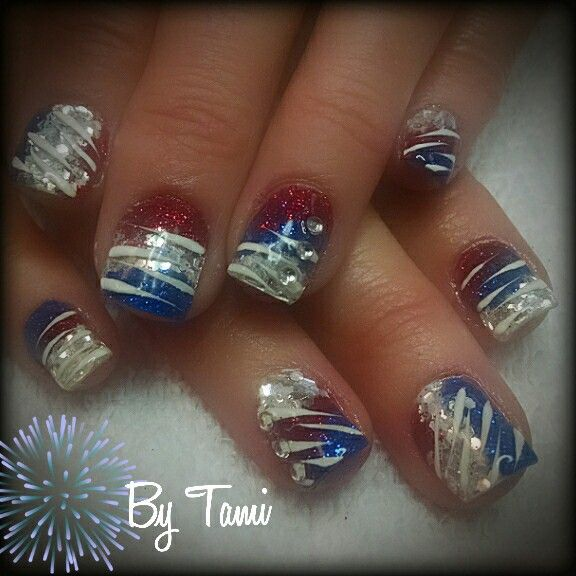 120 Best Images About Red, White, & Blue Nails On