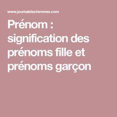 Prénom : signification des prénoms fille et prénoms garçon