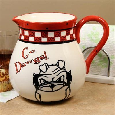 Georgia Bulldogs Game Day Ceramic Pitcher  #Fanatics