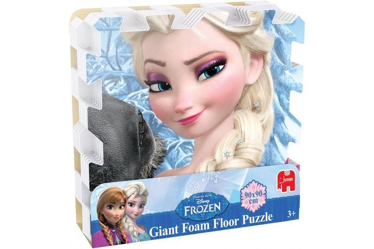 Disney Frozen Foam vloerpuzzel van Jumbo  Elsa, Anna, Olaf en Kristoff, je weet natuurlijk gelijk wie dit zijn! Deze vier Frozen helden kun je vinden op de Disney Frozen Foam vloerpuzzel. #disney #frozen #jumbo #kindercadeau #puzzel