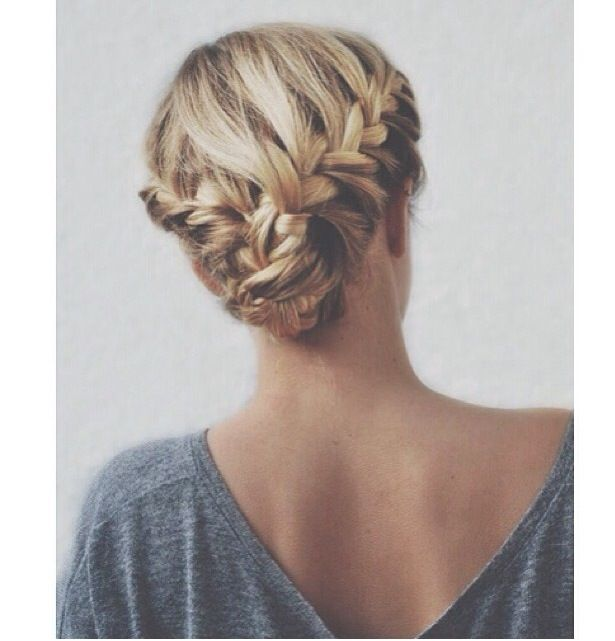 Superb Double Braid Updo And Braids On Pinterest Hairstyle Inspiration Daily Dogsangcom