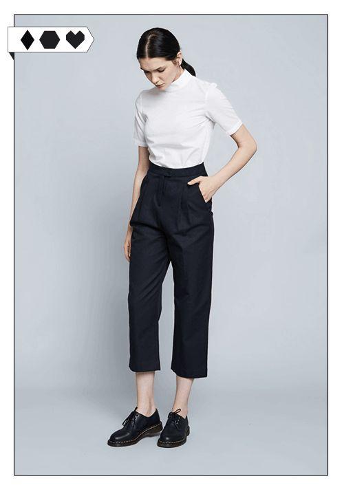 Philomena Zanetti Cropped Trousers: Aus 100% Organic Cotton. Unter fairen Bedingungen in einer kleinen Manufaktur in Polen gefertigt.  VEGAN/ECO/SOCIAL/*249€*