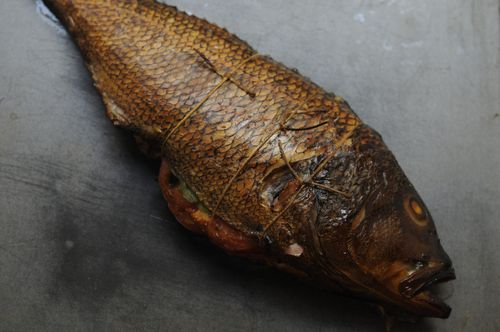 Cedar Plank Grilled Loup De Mer (Sea Bass)