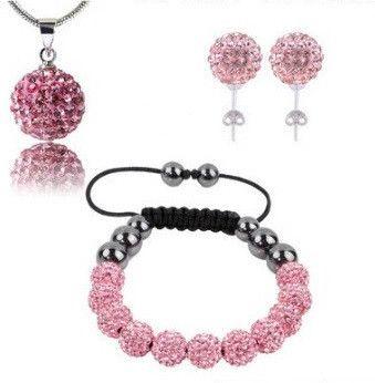 Infinity Shamballa Set Pink