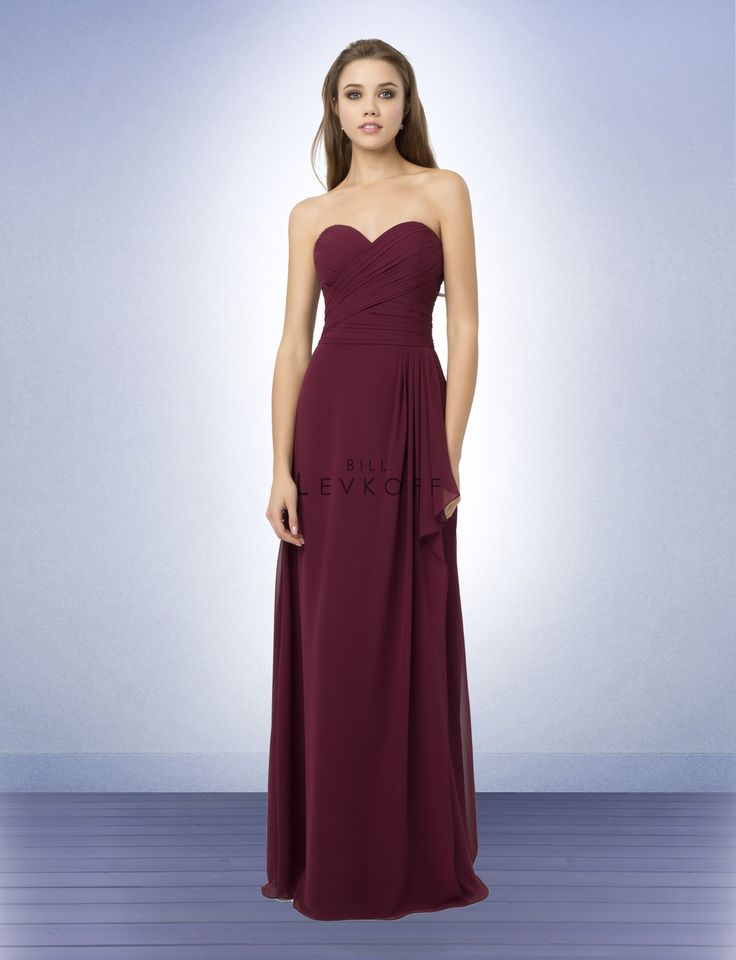 Bill levkoff bridesmaid dresses style 773 marsala for Wine colored wedding dresses