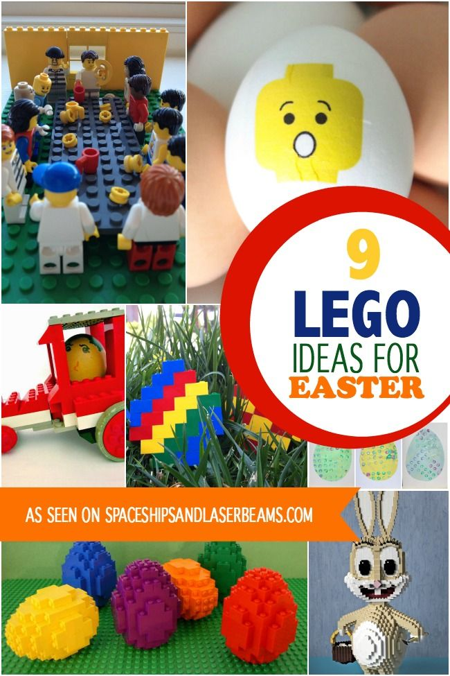 9 Lego Ideas for Easter - Spaceships and Laser Beams
