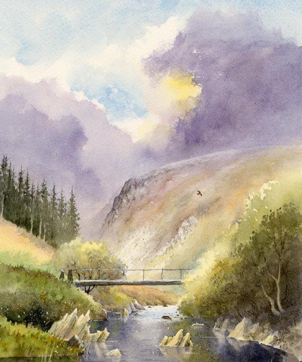 watercolor landscape tutorials