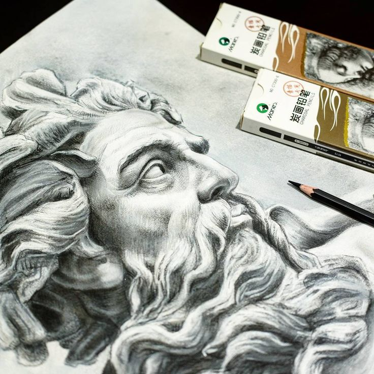 Zeus greek statue study by @bukchori Charcoal on multimedia paper. Sunday class available. #artclass #art #medanart #arttutor #portrait #charcoal #charcoalpencil #drawing #instaart #artcourse #greekstatue #zeus