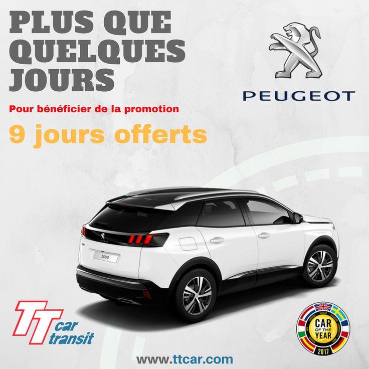 Fin de la promotion 9 jours offerts PSA. Plus que 2 jours pour réserver. #ttcar #ttcartransit #expat #expatlife #promo #peugeot #citroen #ds