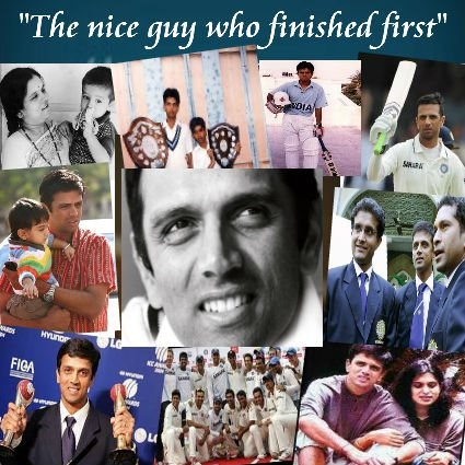 Wishing Rahul Dravid all the best