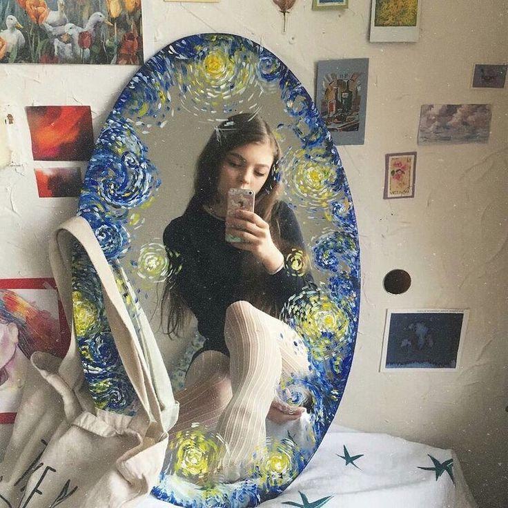 Mach etwas künstlerisches mit dem Spiegel. Passen…