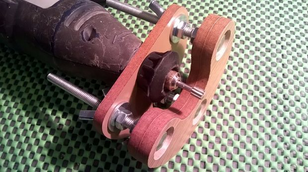 DIY Wooden precision mini plunge router base for rotary tool (with cardboard prototype)