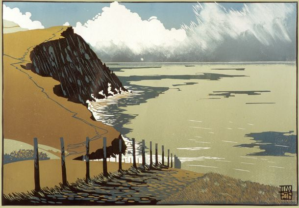 Limited Edition Prints by Linocut Artist Ian Phillips based in mid Wales. This is the image used in tutorial in earlier pin...