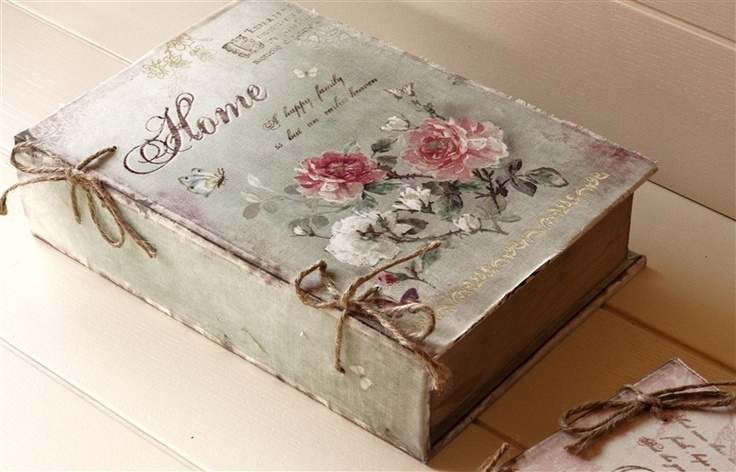 shabby book inspiration: Books, Rose, Craft, Idea, Romantic Homes, Vintage Book, Shabby Chic, Altered Book