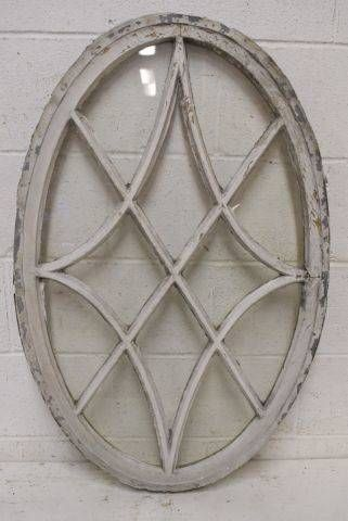 Columbus Architectural Salvage - Salvaged Oval Wood Window
