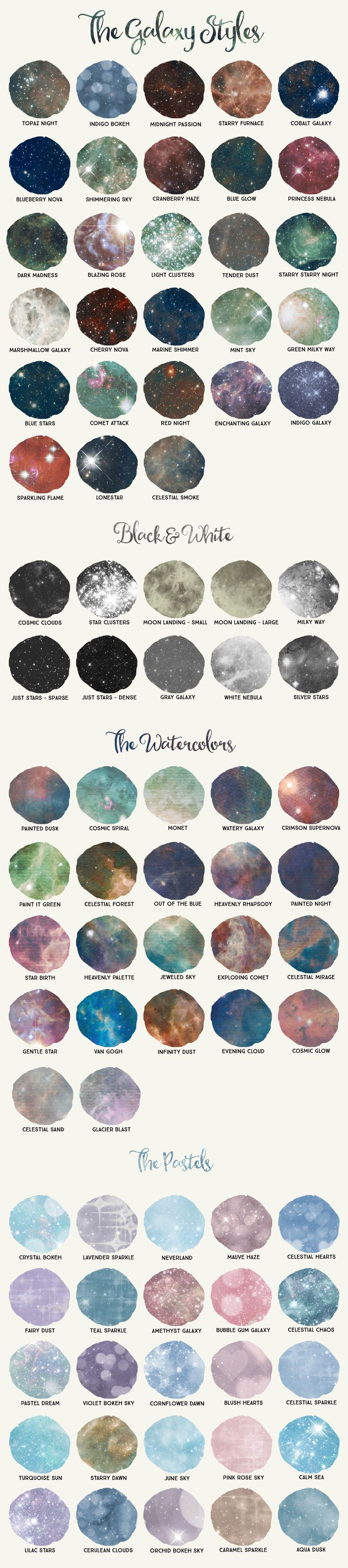Galaxy Design Kit for Illustrator by Studio Denmark on Creative Market