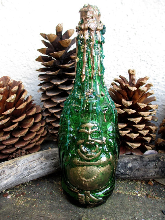 Rita 39 s laughing buddha witch bottle reserved kitty bring for Does buddha bring good luck