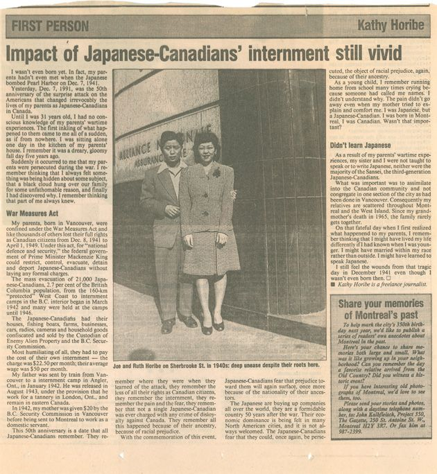 an introduction to the history of japanese internment in canada What makes the image unique, however, is that it is a rare photograph of japanese canadian men who, in 1942, were removed from their families and forced to work on highway projects across canada 2017, canada's 150th birthday, also marks the 75th anniversary of japanese canadian internment.
