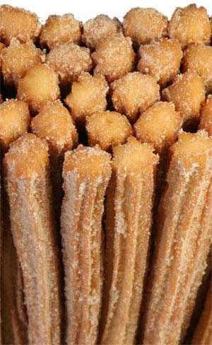 Authentic Mexican Churros Recipe | I tried it-- relatively simple and sooo good.  Easier to make with a deep fryer and star tip larger than Wilton 22, which makes them to skinny. Consistency before placing in bag is a big ball of dough that sticks together better than it sticks to the bowl. ---Nat