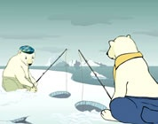 """""""Could it be humans?"""" Two polar bears debate the causes of global warming."""