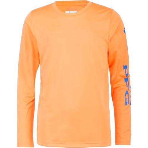Columbia Sportswear Boys' PFG Terminal Tackle Long Sleeve T-shirt (Orange Medium, Size X Large) - Boy's Apparel, Boy's Casual Tops at Academy Sports