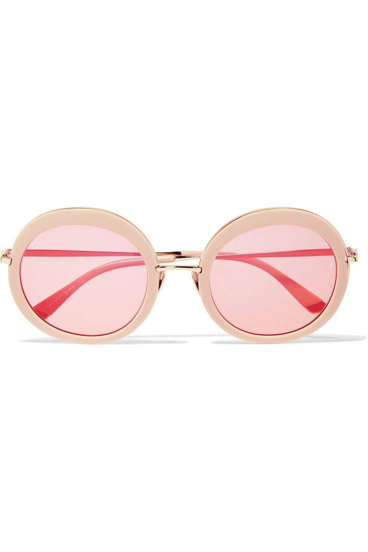 Sunday Somewhere | Arabella round-frame acetate and gold-tone sunglasses | NET-A-PORTER.COM
