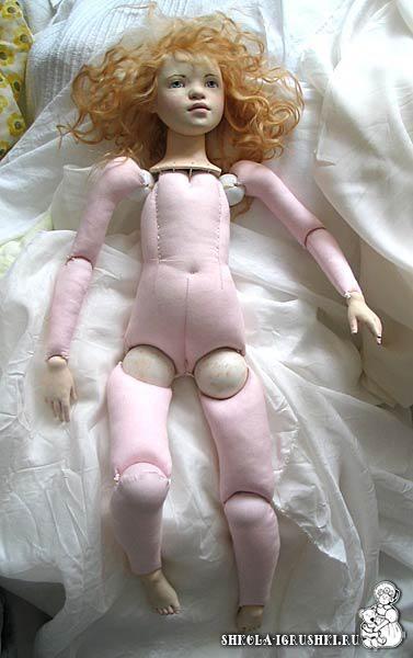 Ball jointed rag dolls !!  use google translate :)  горизонтальное расположение отверстий в шарах-шарнирах