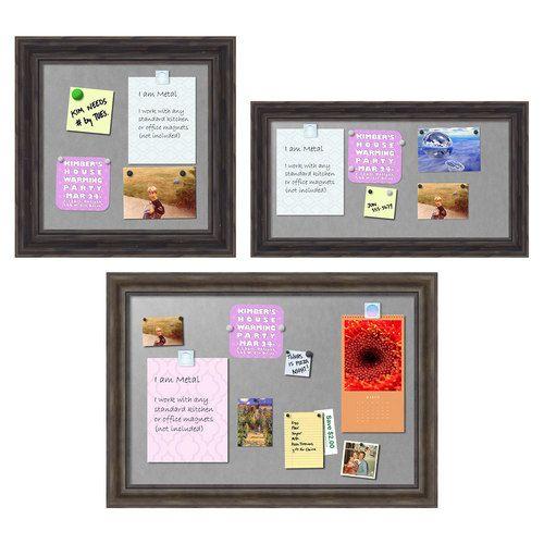Amanti Art Rustic Framed Magnetic Bulletin Board