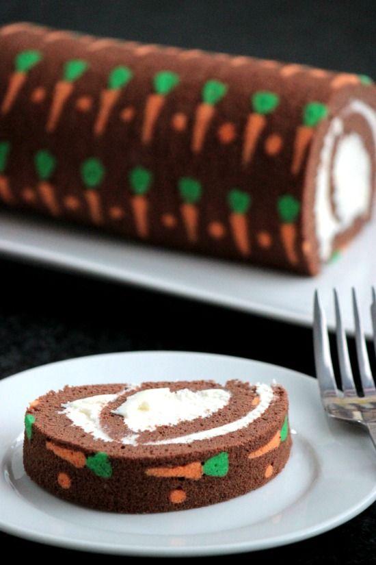 Chocolate Carrot Swiss Roll Cake   Big Bear's Wife
